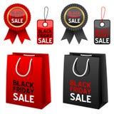 Schwarze Freitag-Verkaufs-Ansammlung Lizenzfreie Stockfotos