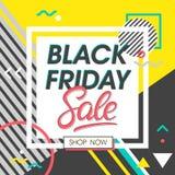 Schwarze Freitag-Verkaufs-Fahne Stockfotos