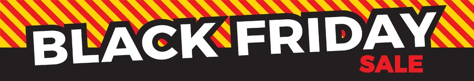 Schwarze Freitag-Verkaufs-Fahne stock abbildung