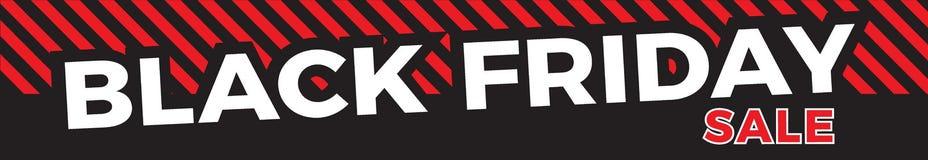 Schwarze Freitag-Verkaufs-Fahne vektor abbildung