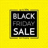 Schwarze Freitag-Verkaufs-Fahne Black Friday-Verkaufs-Plakat mit Wörtern an lizenzfreie abbildung