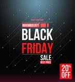 Schwarze Freitag-Verkaufsdesignschablone lizenzfreies stockfoto