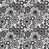 Schwarze Gänge, steampunk nahtloses Muster Stockfotografie