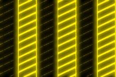 Schwarze gelbe Neonstreifen Stockfoto