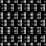 Schwarze geometrische Beschaffenheit mit wiederholtem grauem Quadrat von verschiedenen Größen Lizenzfreie Stockfotos