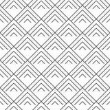 Schwarze geometrische Verzierung auf weißem Hintergrund Nahtloses Muster Lizenzfreie Stockbilder