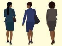 Schwarze Geschäftsfrauen, die weg gehen stock abbildung
