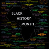Schwarze Geschichten-Monats-Collage Stockfotografie