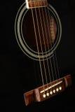 Schwarze Gitarre Lizenzfreies Stockfoto