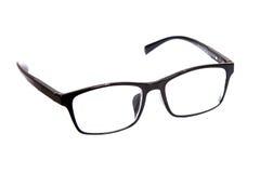 Schwarze Gläser auf einem Weiß lokalisierten Hintergrund Stockfoto