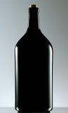 Schwarze Glasflasche Lizenzfreie Stockbilder