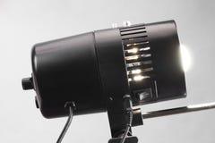 Schwarze grelle Studiolampe Stockfoto
