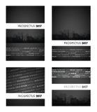 Schwarze Gruppe des Prospekts 2017 Stockbilder