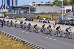 Schwarze Gruppe Radfahrer Stockbild