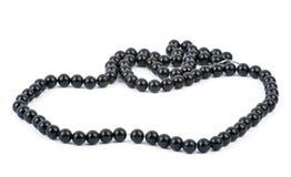 Schwarze Halskette getrennt auf Weiß Lizenzfreies Stockfoto