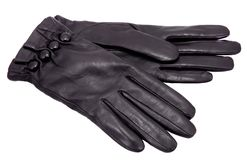 Schwarze Handschuhe Lizenzfreie Stockfotos