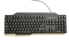 Schwarze hebräische und englische Tastatur Lizenzfreie Stockbilder