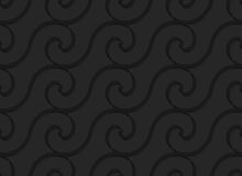 Schwarze horizontale gewundene dünne Wellen 3d Lizenzfreie Stockfotografie