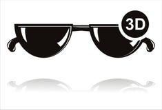 Schwarze Ikone der Gläser 3D vektor abbildung
