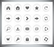 Schwarze Ikonen für Netz Stockfotografie