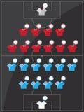 Schwarze Illustration des Fußballplatzes Stockfotografie