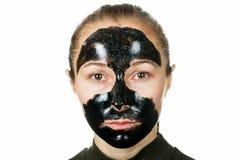 Schwarze im Gesichtmaske Lizenzfreies Stockbild