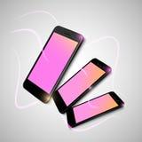 Schwarze intelligente Telefone Stockfotos