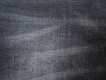 Schwarze Jeansbeschaffenheit Stockfotografie