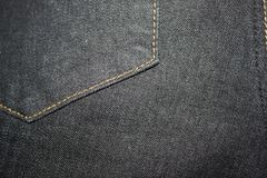 Schwarze Jeansbeschaffenheit lizenzfreies stockbild