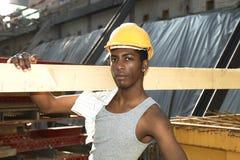 Schwarze junge Arbeitskraft stockbilder