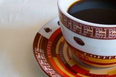 Schwarze Kaffeetasse stockbild