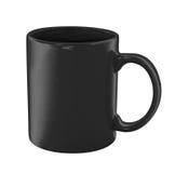 Schwarze Kaffeetasse getrennt mit Ausschnittspfad Lizenzfreie Stockbilder