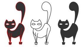 Schwarze Katze Lizenzfreie Stockfotografie