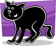 Schwarze Katze der Karikatur Lizenzfreie Stockbilder