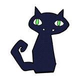 schwarze Katze der komischen Karikatur Stockbild