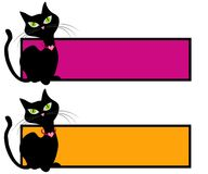Schwarze Katze-katzenartige Webseiten-Zeichen Lizenzfreies Stockfoto
