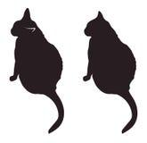 Schwarze Katze silhouettiert Vektorillustration Lizenzfreies Stockfoto