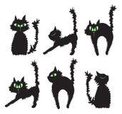 Schwarze Katzen lizenzfreie abbildung