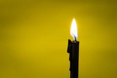 Schwarze Kerzen-Licht-Nahaufnahme Lizenzfreie Stockfotografie