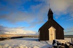 Schwarze Kirche von Budir stockbild