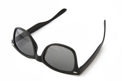 Schwarze klassische PlastikSonnenbrille Lizenzfreies Stockbild