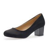 Schwarze kleine Fersen, symbolisches Foto für Mode und Eleganz Lizenzfreie Stockbilder