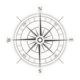 Schwarze Kompassrose lokalisiert auf Weiß Lizenzfreie Stockbilder