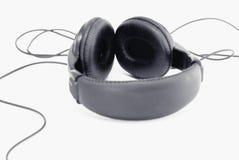 Schwarze Kopfhörer lizenzfreie stockfotos