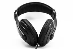 Schwarze Kopfhörer lizenzfreies stockfoto