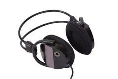 Schwarze Kopfhörer stockfotografie