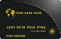 Schwarze Kreditkarte Stockfoto