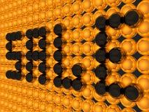 schwarze Kugeln des Verkaufs 3D Stockbilder
