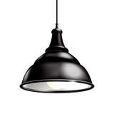 Schwarze Lampe stock abbildung