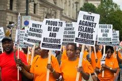 Schwarze Leben-Angelegenheit/halten Rassismus-Demonstrationszug stand Stockfoto